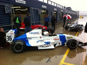 BARC Formula Renault at a soggy Rockingham
